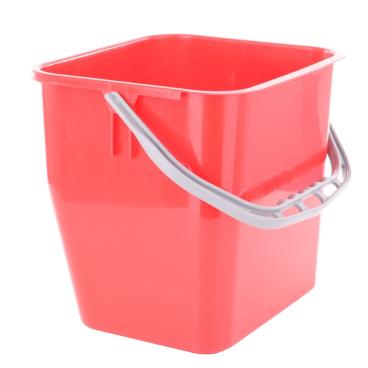 TTS Kunststoffeimer Farbe: rot, 12 Liter