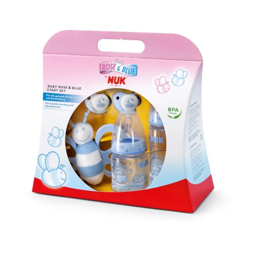 NUK Baby First Choice Blue Starter-Set, 5-teilig, Farbe: blau