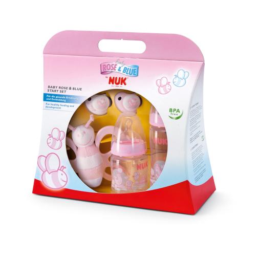 NUK Baby First Choice Rose Starter-Set, 5-teilig, Farbe: rose