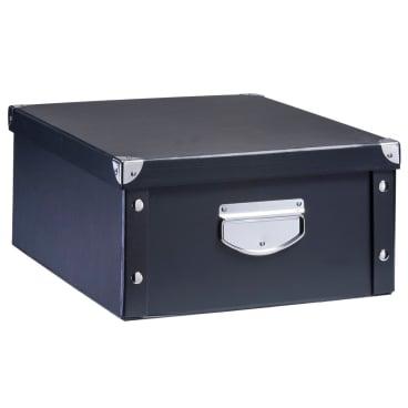 Zeller Aufbewahrungsbox Pappe, Maße: 40 x 33 x 17 cm