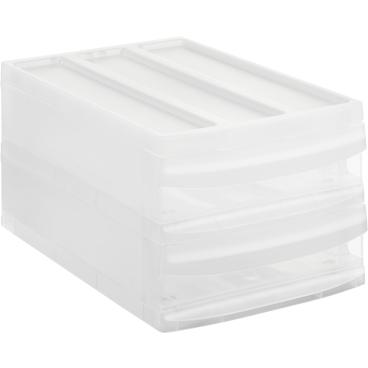 Rotho SYSTEMIX Schubladenbox, 2 Schubfächer