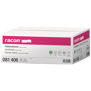 racon® comfort Falthandtücher, 24 x 23, 2-lagig, grün