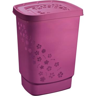 Rotho FLOWERS Wäschesammler, 55 Liter