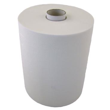 Rollenhandtuchpapier, 2-lagig, hochweiß, 1 Paket = 6 Rollen, Breite: 24 cm, Ø 19 cm