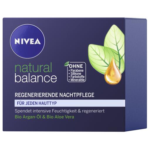 NIVEA Face Natural Balance Regenerierende Nachtpflege