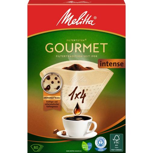 Melitta® Filtertüten 1x4/80 Gourmet® Intense