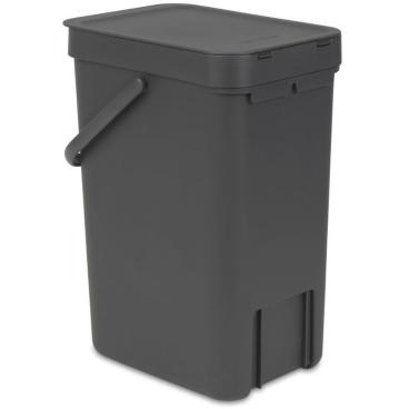 "Brabantia Abfallbehälter ""Sort and Go"" - 12 Liter Farbe: grau"