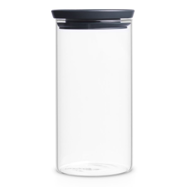 Brabantia Stapelbarer Glasbehälter, transparent / grau