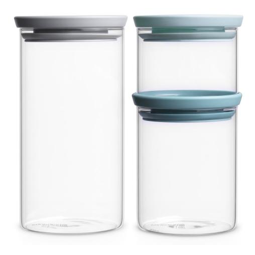 Brabantia stapelbares Glasbehälter-Set