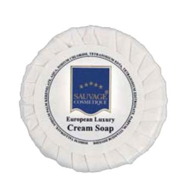 Sauvage Hotelkosmetik Seife in Plissee-Papier