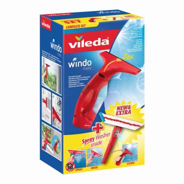 Vileda Windowmatic Fenstersauger mit Spray Einwascher