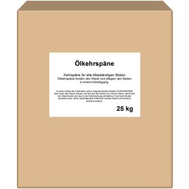 Kehrspäne 25 kg - Karton, Ölkehrspäne