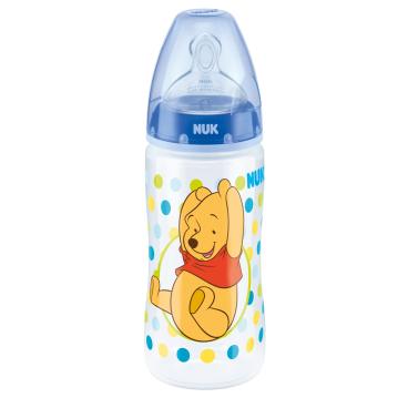 NUK First Choice+ Babyflasche Disney Winnie, Silikon-Ventilsauger