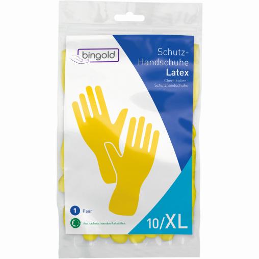 BINGOLD Schutzhandschuhe Latex, gelb