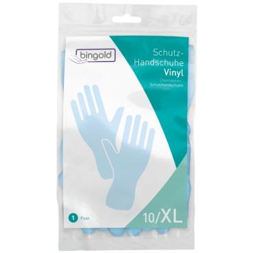 BINGOLD Schutzhandschuhe Vinyl, blau