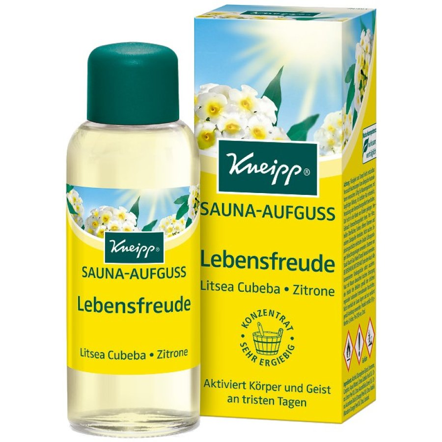 kneipp sauna aufguss lebensfreude litsea cubeba zitrone 100 ml flasche online kaufen. Black Bedroom Furniture Sets. Home Design Ideas