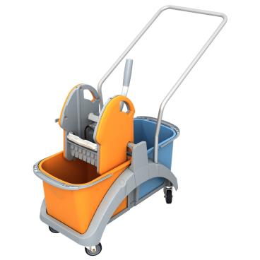 Cleankeeper Doppelfahrwagen 1 mit Kunststoffpresse
