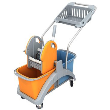 Cleankeeper Doppelfahrwagen 3 mit Kunststoffpresse