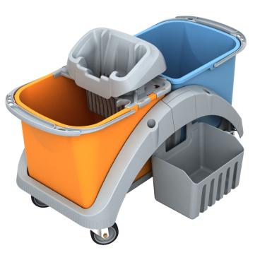 Cleankeeper Doppelfahreimer 12 mit Kunststoffwringer