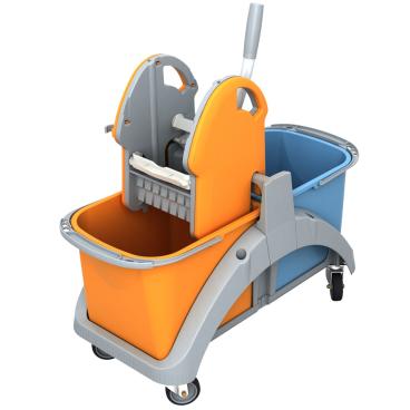 Cleankeeper Doppelfahreimer 1 mit Kunststoffpresse