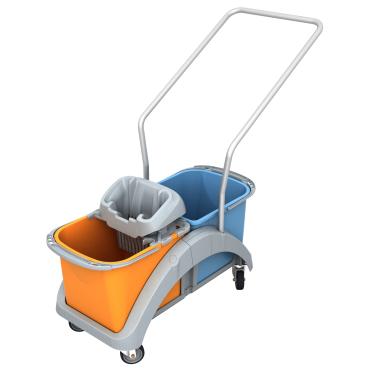 Cleankeeper Doppelfahrwagen 16 mit Kunststoffwringer