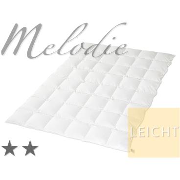 """""""Melodie"""", Daunendecke mit böhmischen Landdaunen L -155 x 220 cm, Füllgewicht: 650 g, 4 x 6 Karos"""