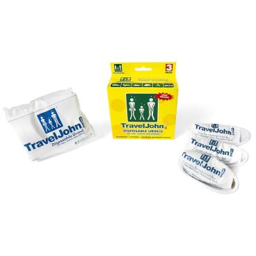 TRAVEL JOHN Wegwerf-Urinal 1 Packung = 3 Stück