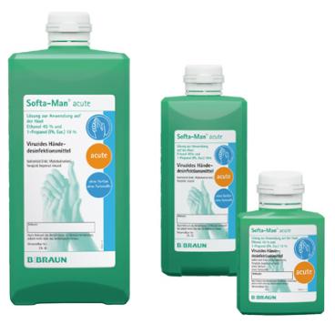 B. Braun Softa Man® acute Händedesinfektion 100 ml - Flasche