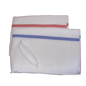 Floorstar Wäschesack WS 70 für Wäschesammler Fassungsvermögen: 70 Liter, Farbe: weiß mit blauen Streifen
