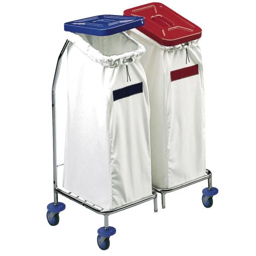 Floorstar Wäschesammler WS 2 SOLID, verchromt, zweifach