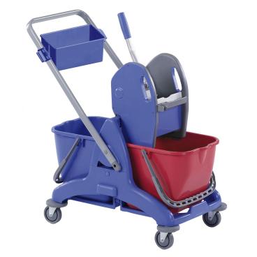 Floorstar Doppelfahrwagen Kunststoff mit schwenkbarer Deichsel und Deichselwanne
