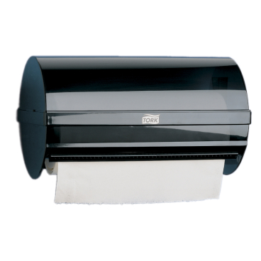 Tork Kleinrollenspender Maße: 29,7 x 17,1 x 18,1 cm, Farbe: grau-transparent