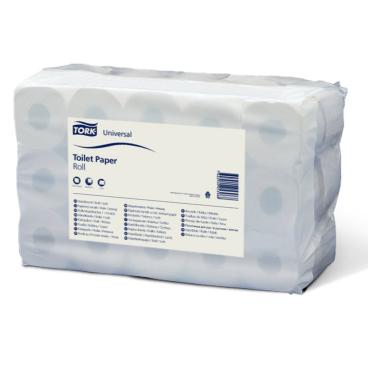 Tork Kleinrollen Toilettenpapier T4 Universal, 2-lagig, weiß 1 Paket = 30 Rollen x 400 Blatt = 12.000 Blatt