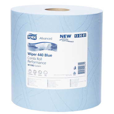 Tork Advanced Wischtuch 440, blau 1 Packung = 2 Rollen x 119 m = 700 Tücher