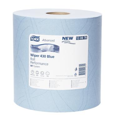 Tork Advanced Wischtuch 430, Großrolle, blau 1 Rolle = 1000 Abr. á 34 cm = 340 Meter