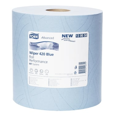Tork Advanced Wischtuch 420, Großrolle, blau