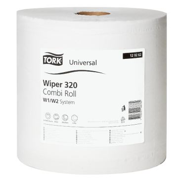 Tork Universal Wischtuch 320, weiß 1 Packung = 2 Rollen x 340 m = 2.000 Tücher