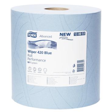 Tork Advanced Wischtuch 420, Großrolle, blau 23,5 x 34 cm