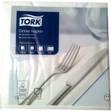 Tork Dinnerservietten, 39 x 39 cm, 2-lagig, 1/4 Falz