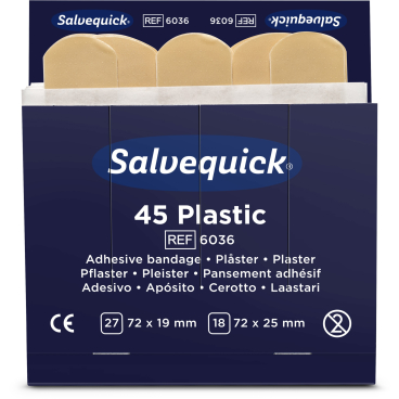Cederroth Salvequick Plastic Pflaster 1 Packung = 45 Stück