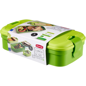 CURVER LUNCH & GO Lunchbox inklusive Besteck