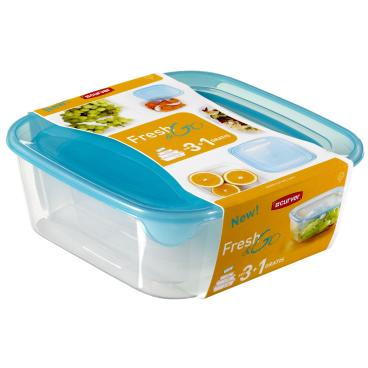 CURVER FRESH & GO Frischhaltedosen, 4-tlg