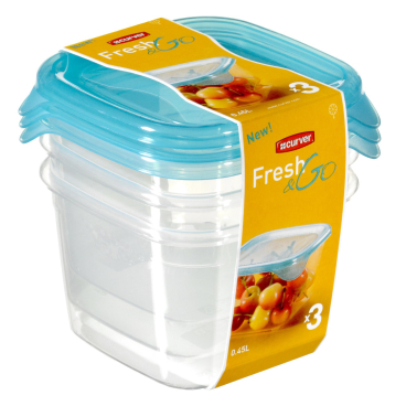 CURVER FRESH & GO Frischhaltedose, 3-tlg
