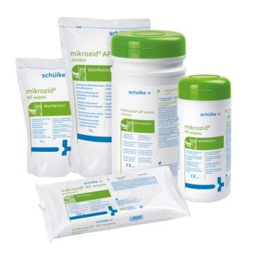 Schülke mikrozid® AF wipes Desinfektionstücher 1 Spenderdose = 150 Tücher (14 x 18 cm)