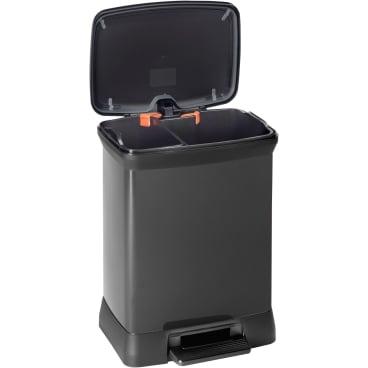 CURVER DECO Bin METALLIC´S DUO Abfallbehälter