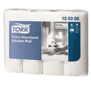 Tork Premium Küchenrolle 26 x 25 cm 1 Paket = 12 x 4 Rollen x 51 Blatt = 2.448 Blatt