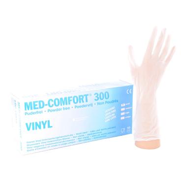 Med-Comfort 300 - Vinyl-Einmalhandschuhe Größe: M, Packung = 100 Stück