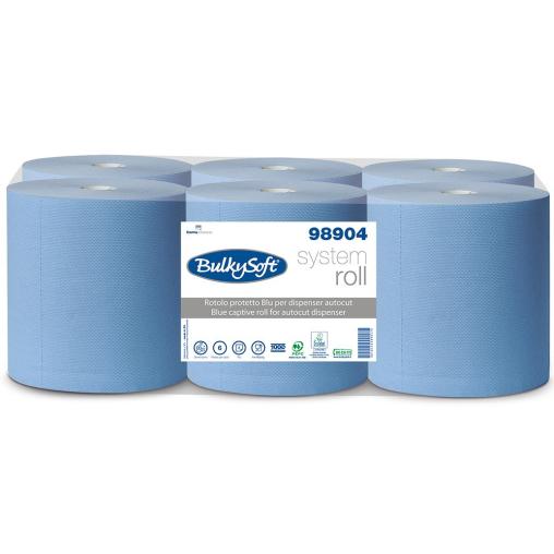 BulkySoft Papierhandtuchrolle Autocut, blau