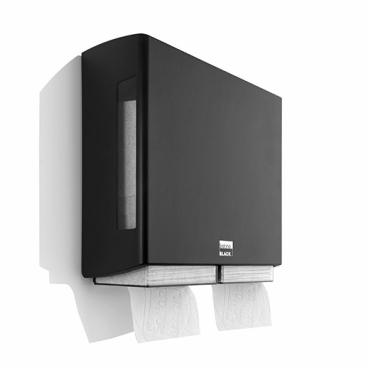 SATINO Black BriQ double Toilettenpapierspender Maße: 251 x 104 x 153 mm