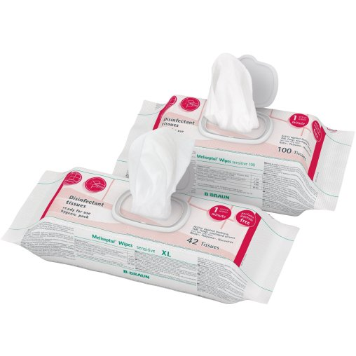 B. Braun Meliseptol® Wipes sensitive Flowpack Desinfektionstücher
